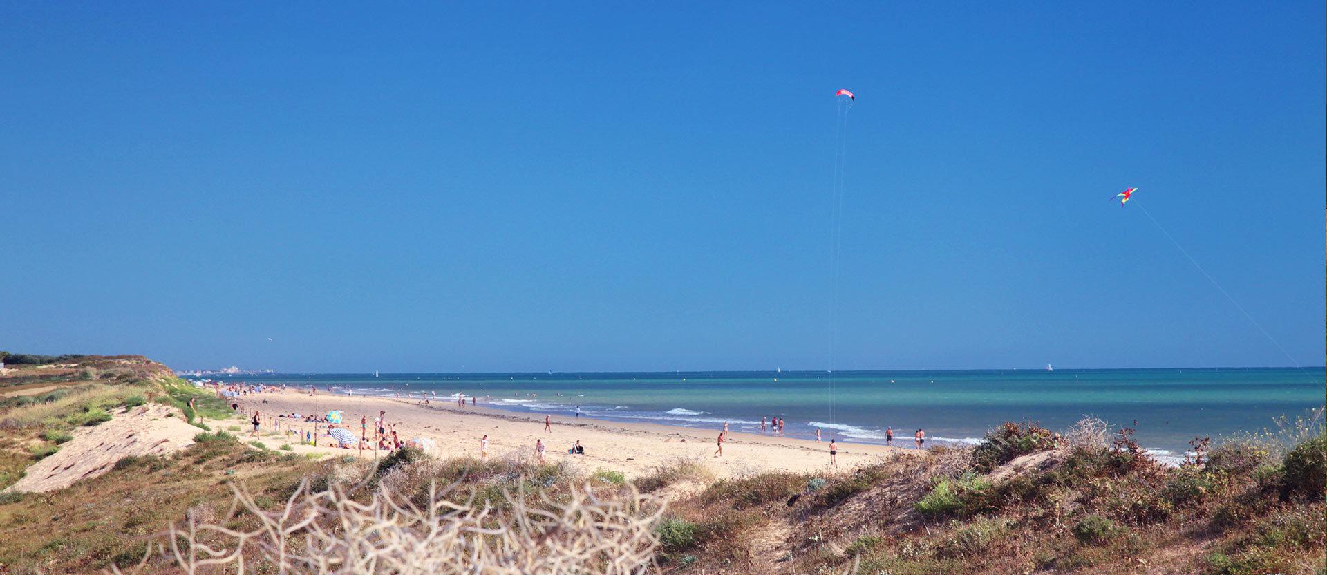 La plage de St Hilaire de Riez